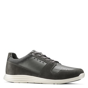 Sneakers Light in pelle bata-light, grigio, 844-2161 - 13