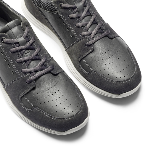 Sneakers Light in pelle bata-light, grigio, 844-2161 - 19