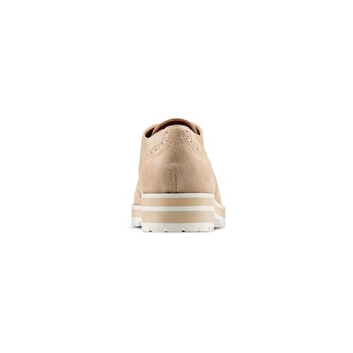 Stringate in pelle scamosciata bata, beige, 523-8266 - 15