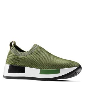 Sneakers Platform senza lacci bata, verde, 539-7129 - 13