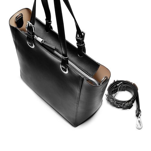 Shopper da donna bata, nero, 961-6232 - 17