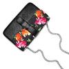 Borsa a tracolla con stampa floreale bata, nero, 961-6250 - 17
