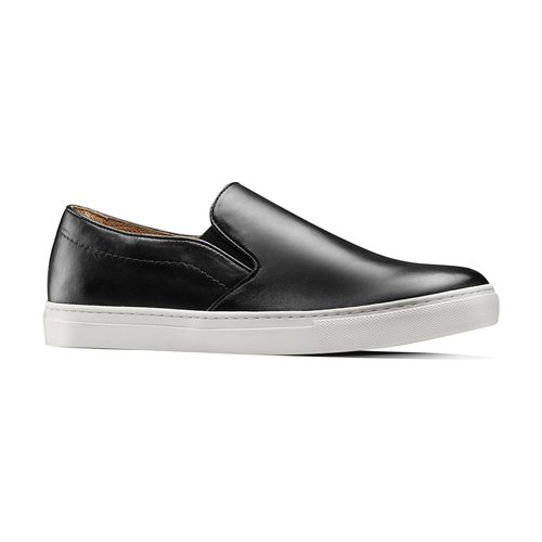 Slip on in vera pelle, nero, 834-6136 - 13