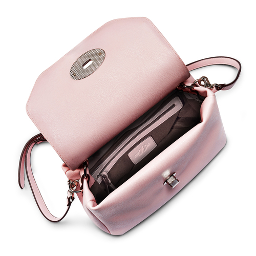 Borsa a mano con tracolla removibile bata, rosa, 961-5225 - 16