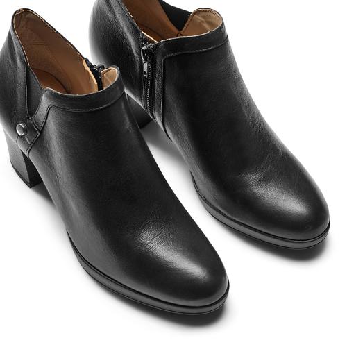 Ankle boots in vera pelle bata, nero, 724-6186 - 17