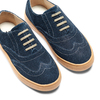 Stringate in suede mini-b, blu, 313-9191 - 26