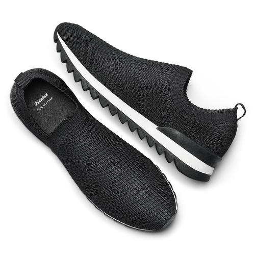 Scarpe da corsa da uomo bata, nero, 839-6140 - 19
