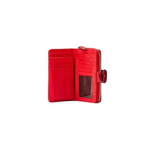 Portafoglio da donna bata, rosso, 941-5160 - 15