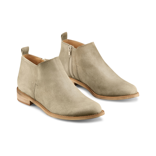Ankle Boots in suede bata, verde, 593-7703 - 16