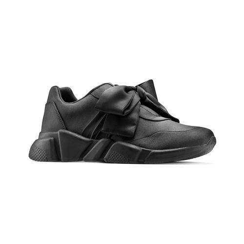 Sneakers nere con lacci in satin bata, nero, 549-6202 - 13