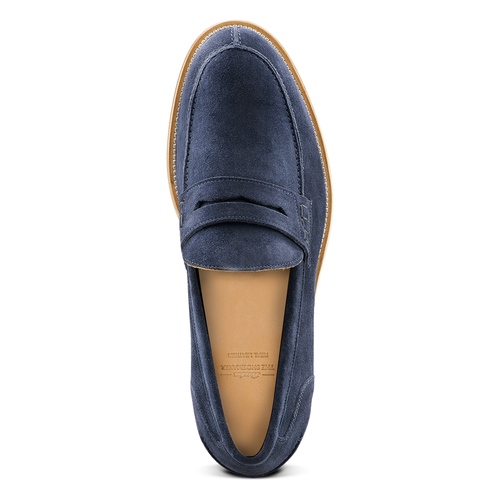 Mocassini in suede bata-the-shoemaker, blu, 813-9116 - 15