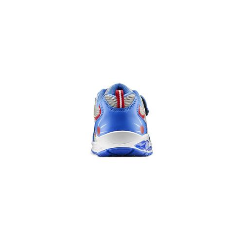 Sneakers da bambino con luci mini-b, blu, 211-9102 - 16