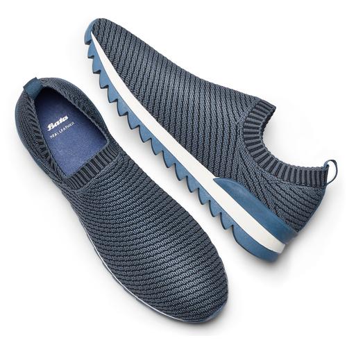 Scarpe da corsa senza lacci bata, blu, 839-9140 - 19