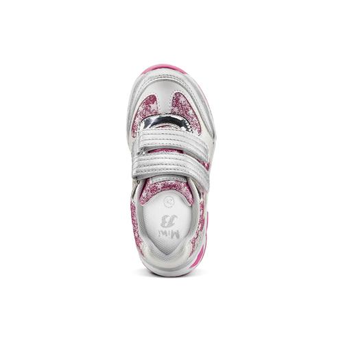Sneakers con luci da bambina mini-b, grigio, 221-2194 - 15