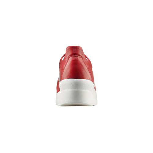 Sneakers Platform in pelle bata, rosso, 624-5158 - 15