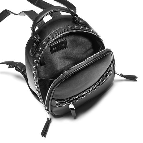 Zainetto con ampia zip bata, nero, 961-6315 - 16