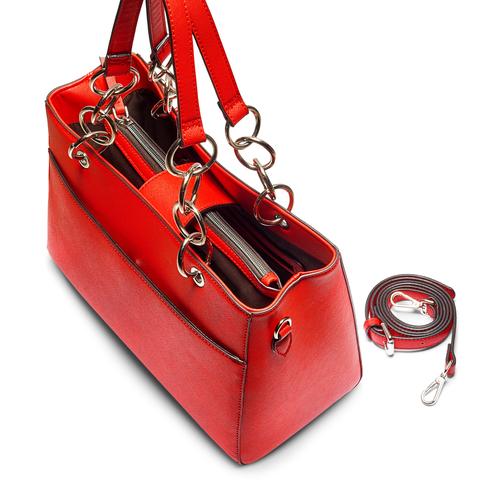 Borsa a spalla bata, rosso, 961-5343 - 17