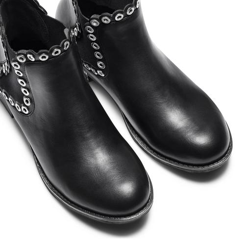 Ankle Boots con occhielli  bata, nero, 591-6806 - 17