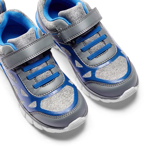 Sneakers da bambino con elastici mini-b, grigio, 319-2148 - 26