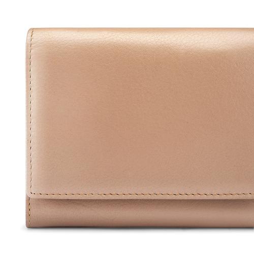 Portafoglio in pelle bata, beige, 944-3133 - 17