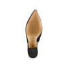 Sling back shoes in pelle scamosciata bata, nero, 723-6248 - 19
