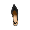 Sling back shoes in pelle scamosciata bata, nero, 723-6248 - 17