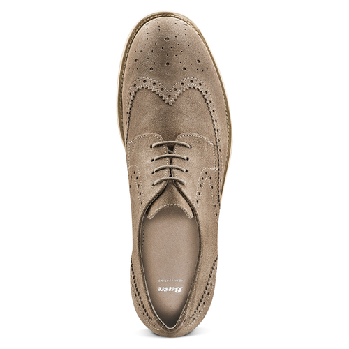 Derby in suede da uomo bata, marrone, 823-3306 - 15