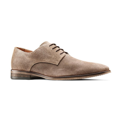 Derby da uomo in suede bata, marrone, 823-3297 - 13