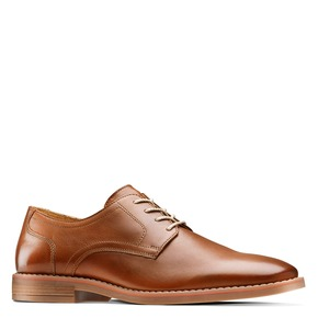Derby in pelle da uomo bata, marrone, 824-3350 - 13