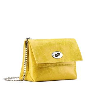 Minibag in vera pelle bata, giallo, 964-8249 - 13
