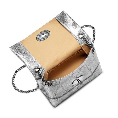 Minibag in pelle bata, argento, 964-1239 - 16