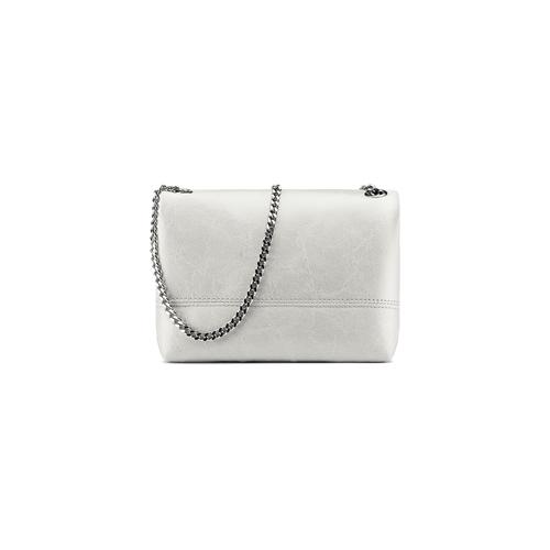 Minibag in vera pelle bata, bianco, 964-1249 - 26