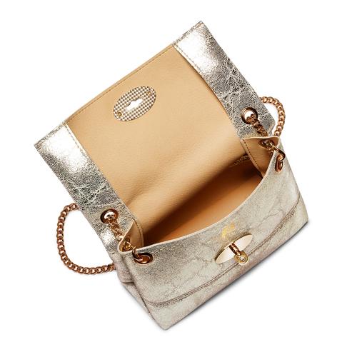 Minibag in vera pelle bata, oro, 964-4239 - 16