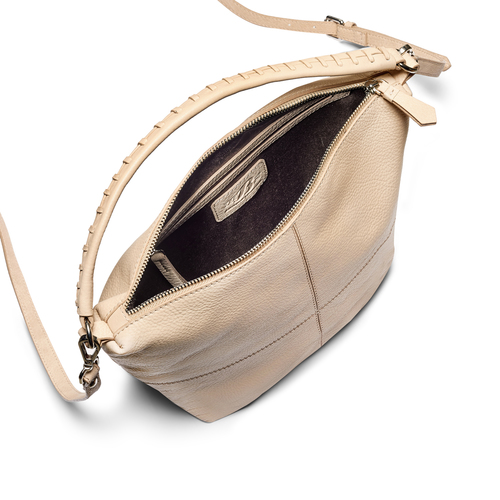 Hobo bag in pelle bata, beige, 964-1121 - 16