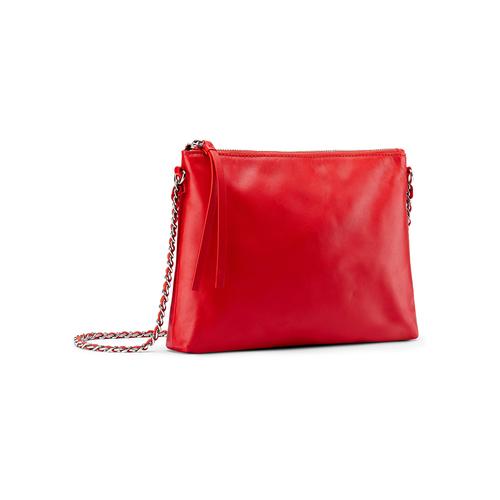 Tracolla in vera pelle bata, rosso, 964-5252 - 13