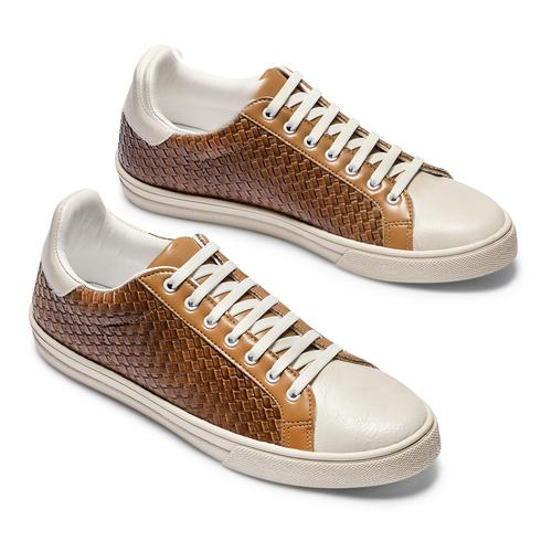 Sneakers da uomo bata, marrone, 841-3338 - 26