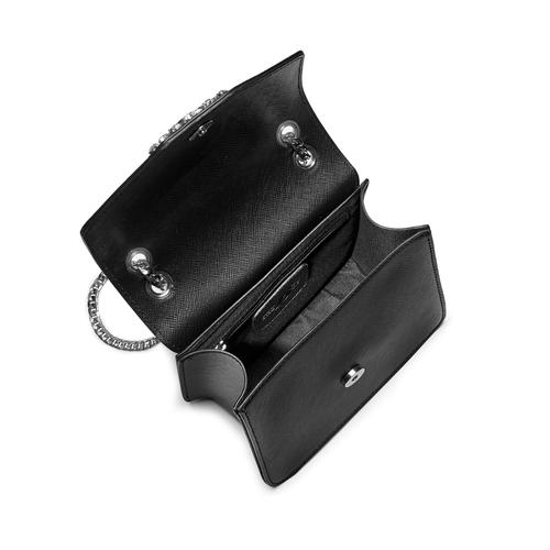 Borsa elegante con applicazioni bata, nero, 961-6249 - 16