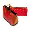 Borsa a mano con trafori bata, rosso, 961-5292 - 17