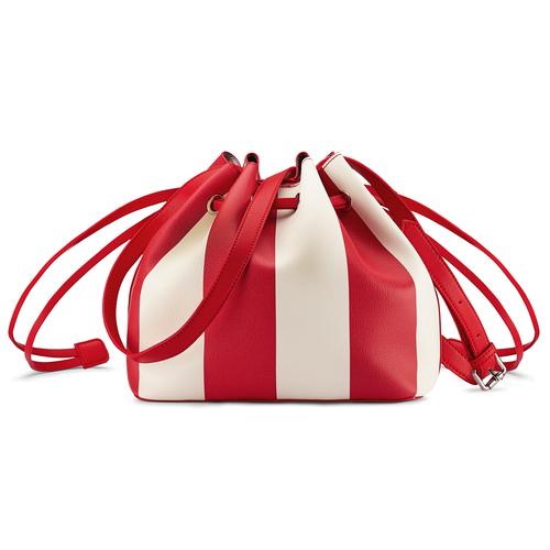 Borsa a secchiello bata, rosso, 961-5390 - 26