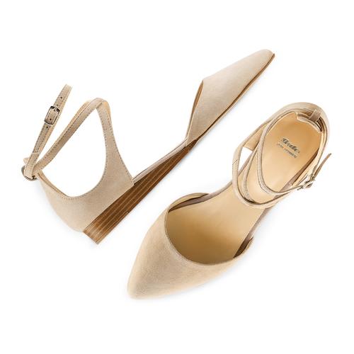 Ballerine a punta bata, beige, 523-8239 - 26