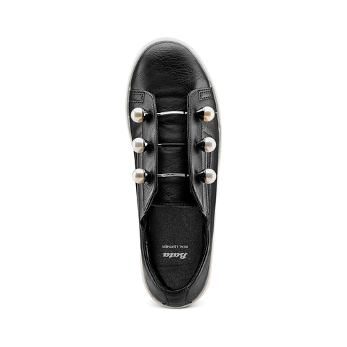 Sneakers con maxi perle bata, nero, 541-6375 - 17