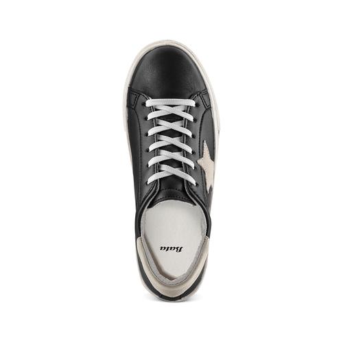 Sneakers con stella bata, nero, 541-6376 - 17