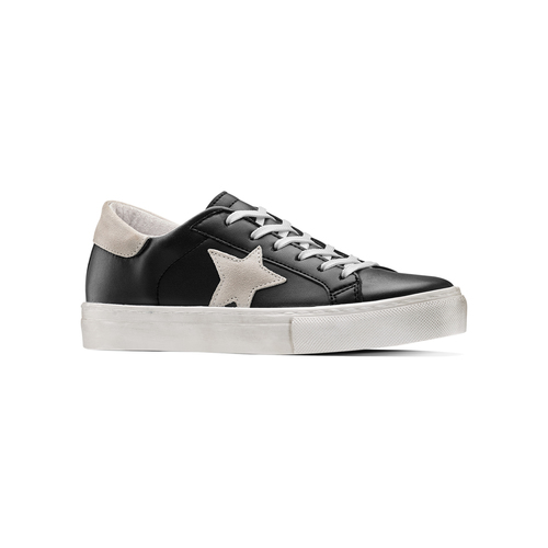 Sneakers con stella bata, nero, 541-6376 - 13