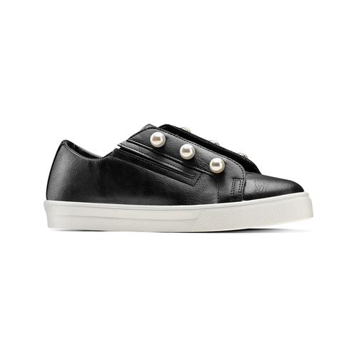 Sneakers con maxi perle bata, nero, 541-6375 - 13