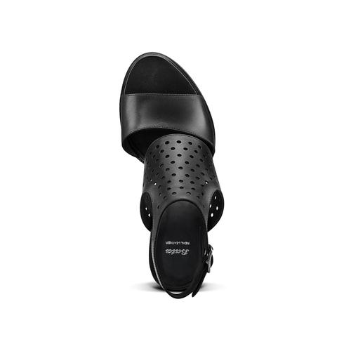 Sandali in pelle bata, nero, 764-6159 - 17