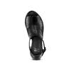 Sandali in pelle bata, nero, 724-6297 - 17