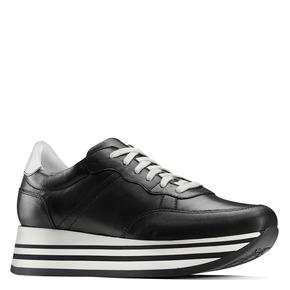 Sneakers platform bata, nero, 644-6102 - 13
