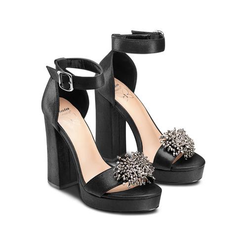 Sandali con tacco insolia, nero, 769-6165 - 16