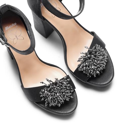 Sandali con tacco insolia, nero, 769-6165 - 26