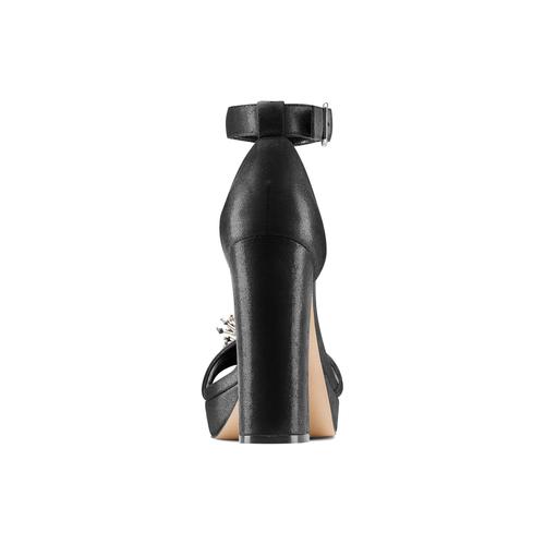 Sandali con tacco insolia, nero, 769-6165 - 15